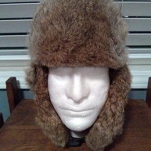 Crown Cap Canada Fur Lined Men's Trapper Hat M